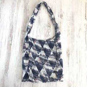 FREE PEOPLE Open Fabric Reusable Shopper Tote Bag
